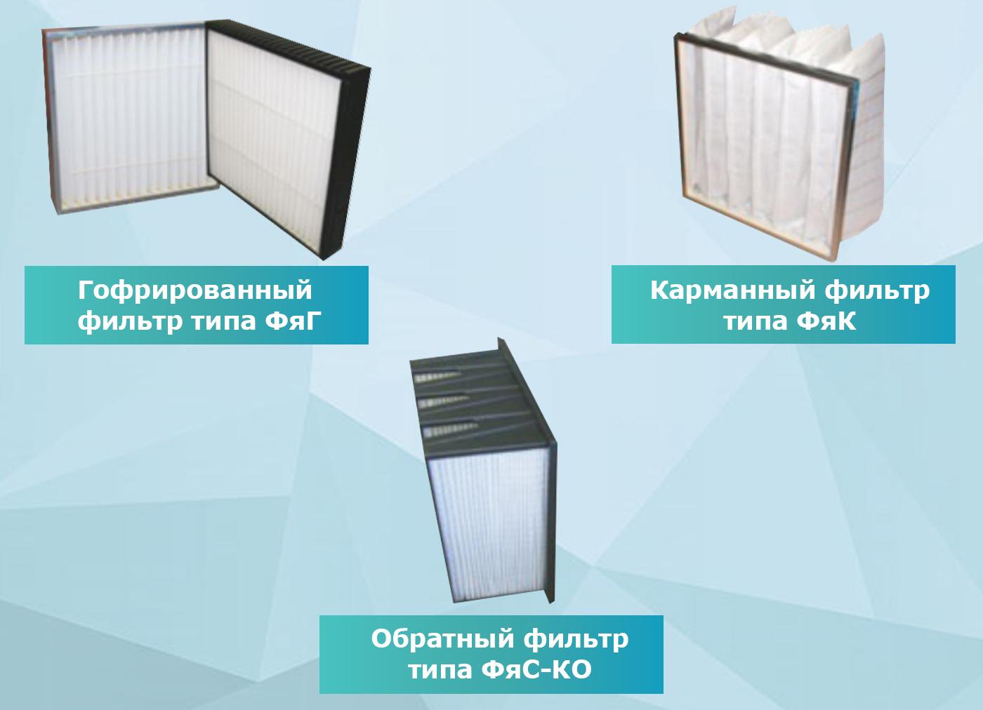 Типы вентиляционных фильтров