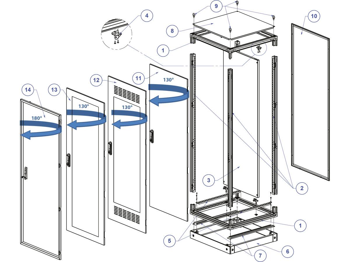 Новые электротехнические шкафы 19'' в интернет-магазине Уралэнерготел