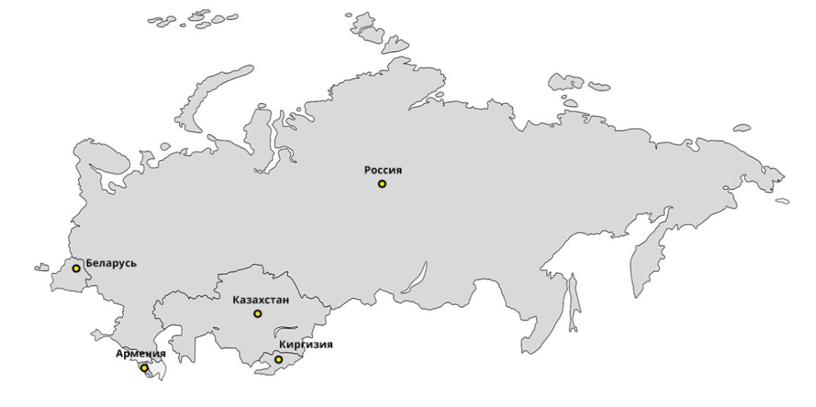 Доставка по Казахстану, Беларуси, Кыргызстану и Армении