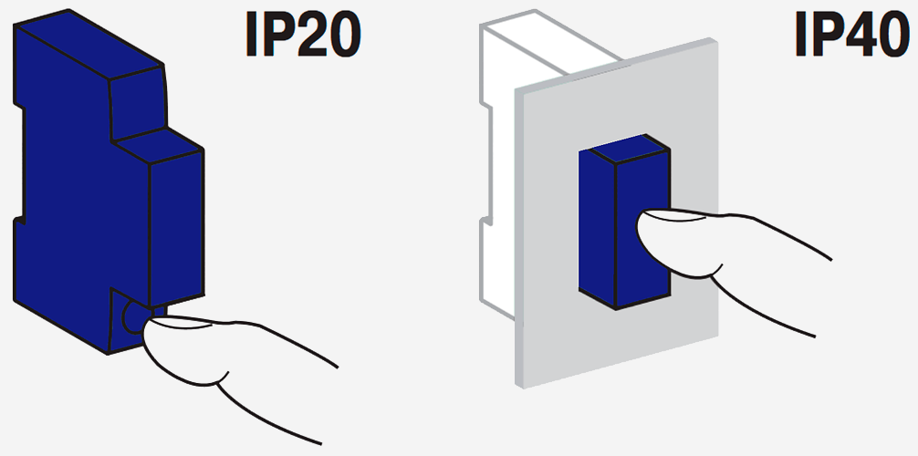 Вариант защиты до IP40